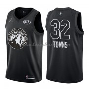 Maillot NBA Pas Cher Minnesota Timberwolves Karl-Anthony Towns 32# Black 2018 All Star Game Swingman..